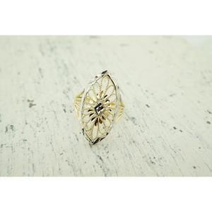 Jewelry - Womens 14K Yellow Gold Ring Cocktail Ring   Free S